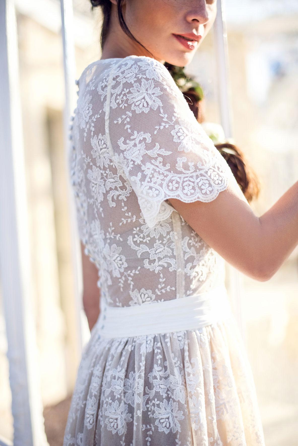 Robe de mariée sur mesure bohème chic