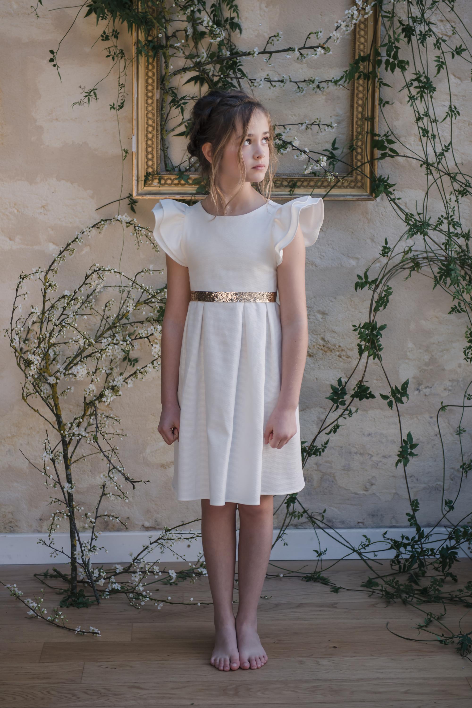 f5bcb8f5d0e91 ... robe ceremonie enfant tenue de cortege jolie robe enfant mariage robe  sur mesure ...