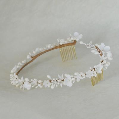Lizeron bijoux de tête mariée couronne peigne bijoux porcelaine