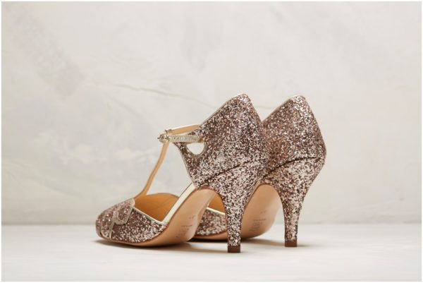 Rachel Simpson France chaussures de mariée glitter paillette chaussures mariage chaussure vintage