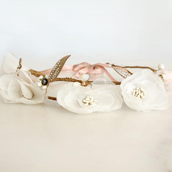 Couronne Rosa Alba Les Majestés Bijoux de tête Mariage