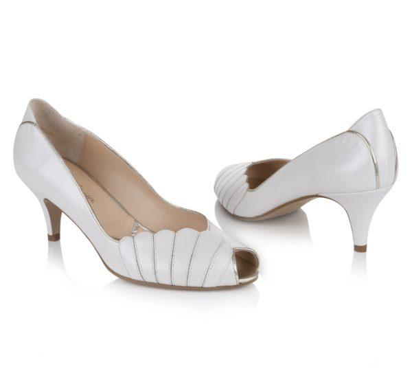 Rachel Simpson France chaussures de mariée blanchechaussures mariage chaussure vintage