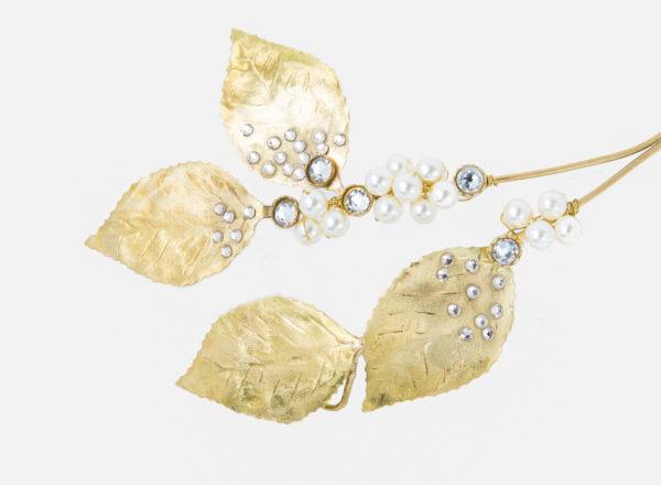 Ornement Gingko Les Majestés Bijoux de tête Mariage