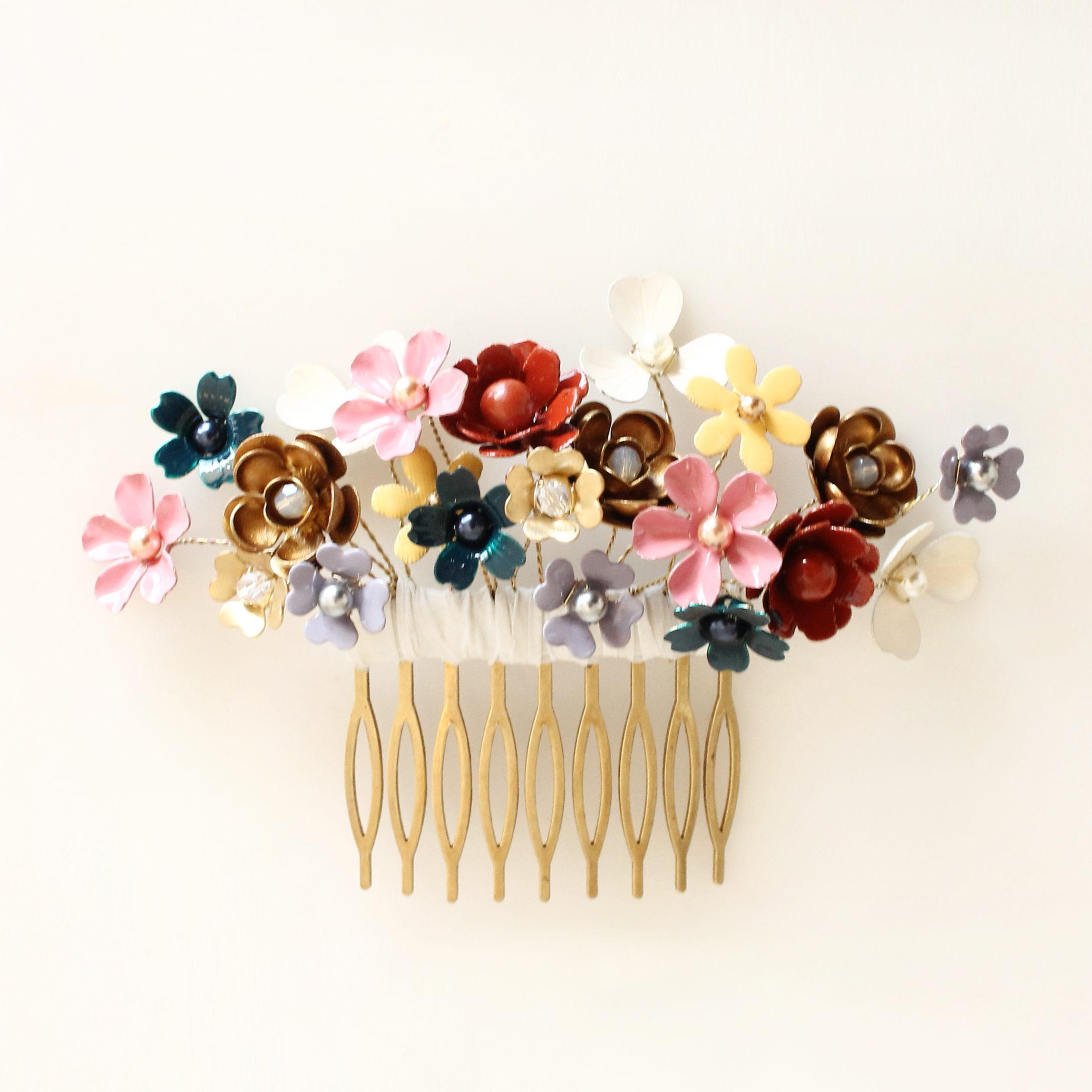 Peigne Mille Fleurs Les Majestés Bijoux de tête Mariage