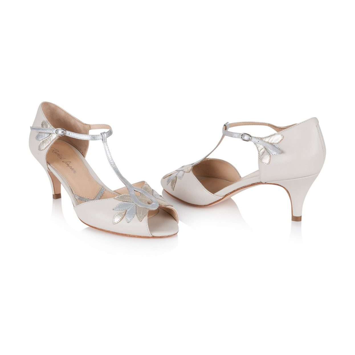 Rachel Simpson France chaussures de mariee ivoire chaussures mariage chaussure vintage