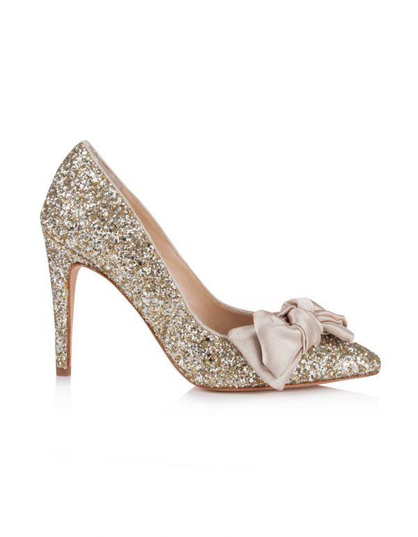 Rachel Simpson Bonita Gold Glitter Escarpins