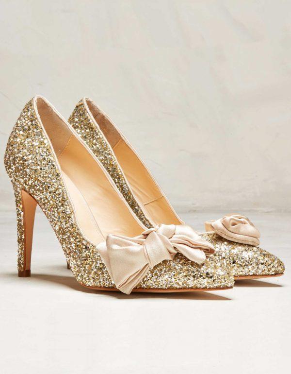 Rachel Simpson Chaussure Escarpins Glitter Glod Bonita