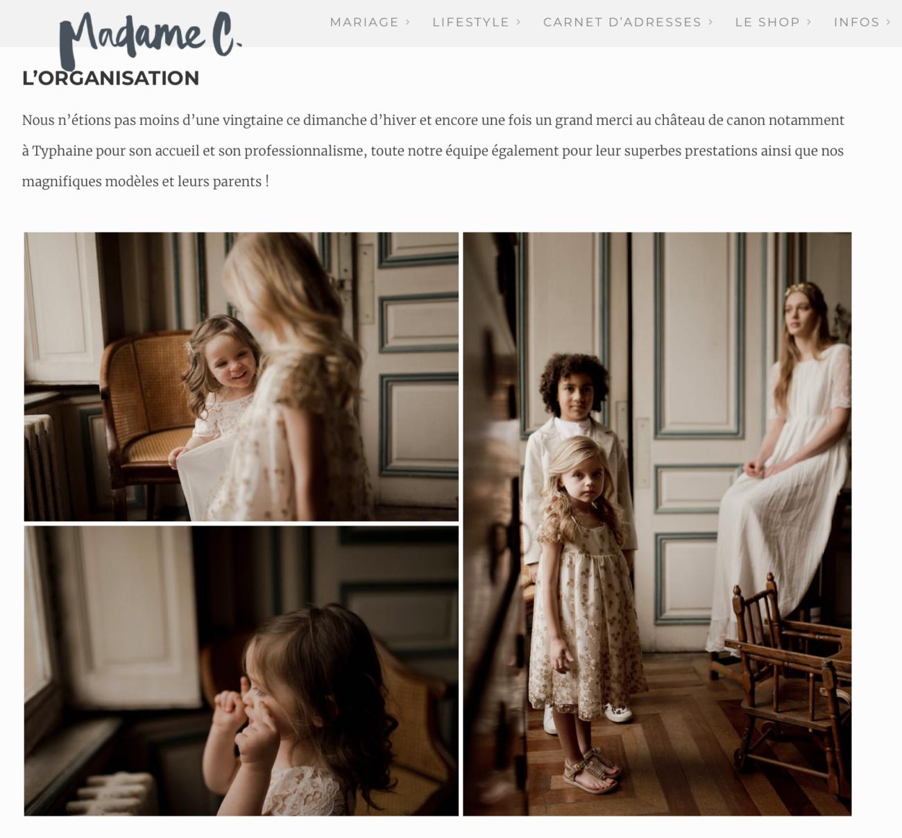 Article Blog de Madame C Cortège Epicurien Robe Cortège Elise Martimort