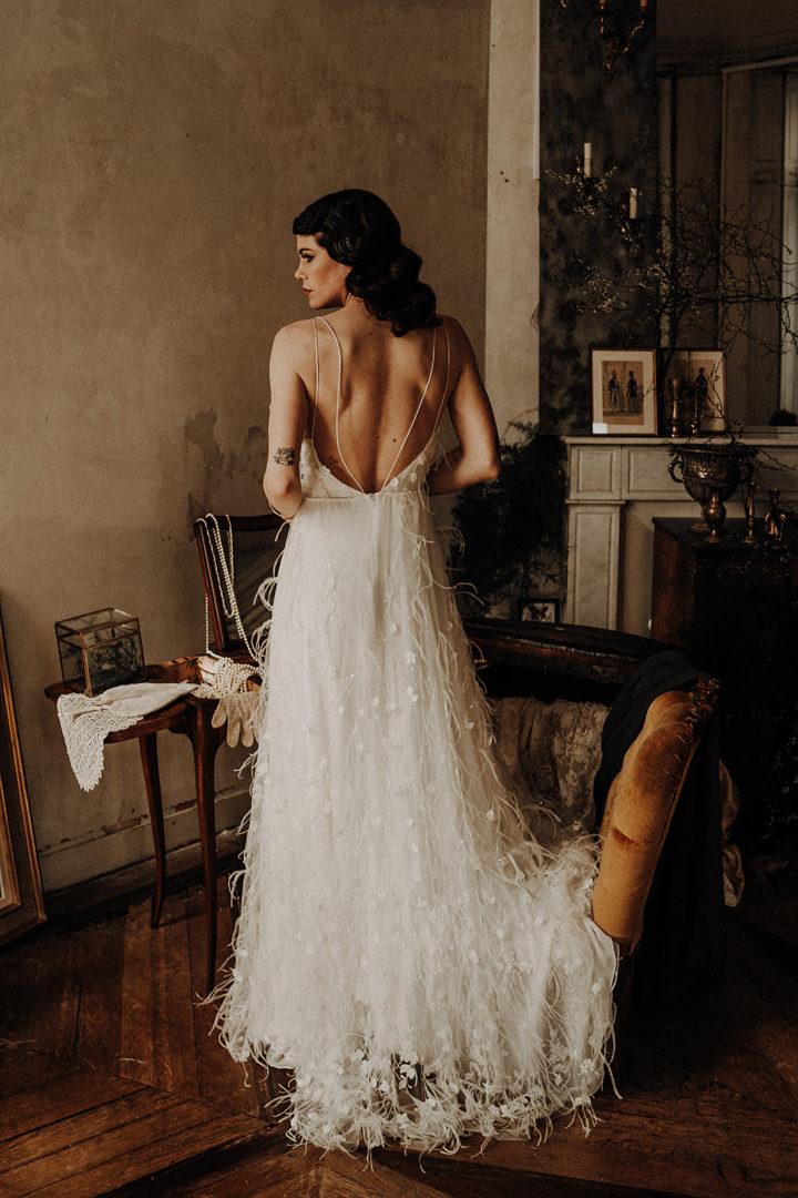 robe de mariee robe de cocktail sur mesure elise Martimort créatrice de robes de mariee capsule coutre modele Eileen