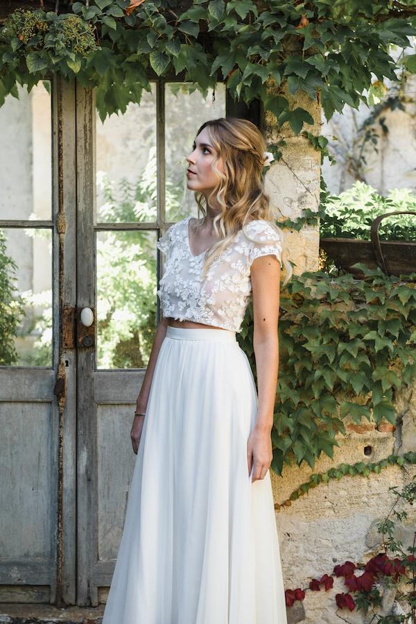 tp et jupe de mariée Robe de Mariee collection 2019 creatrice de Robe de mariée paris