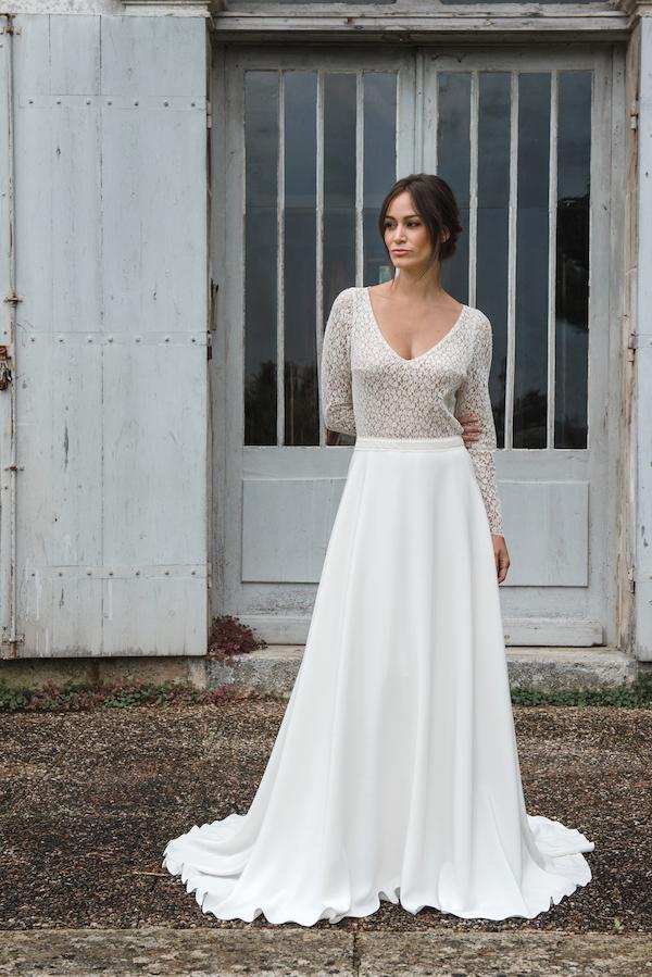 robe de mariée collection 2019 robe de mariée sur mesure paris dentelle de calais