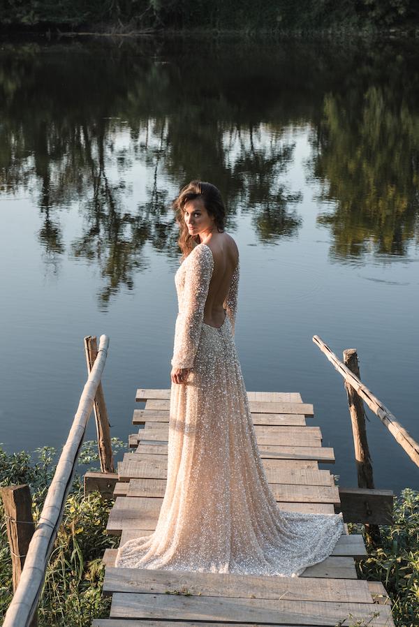 robe de mariee en perle luxe haute couture sur mesure