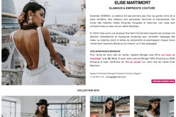printemps haussmann espace mariage robe de mariée collection 2019 créatrice française plus belle robe de mariée