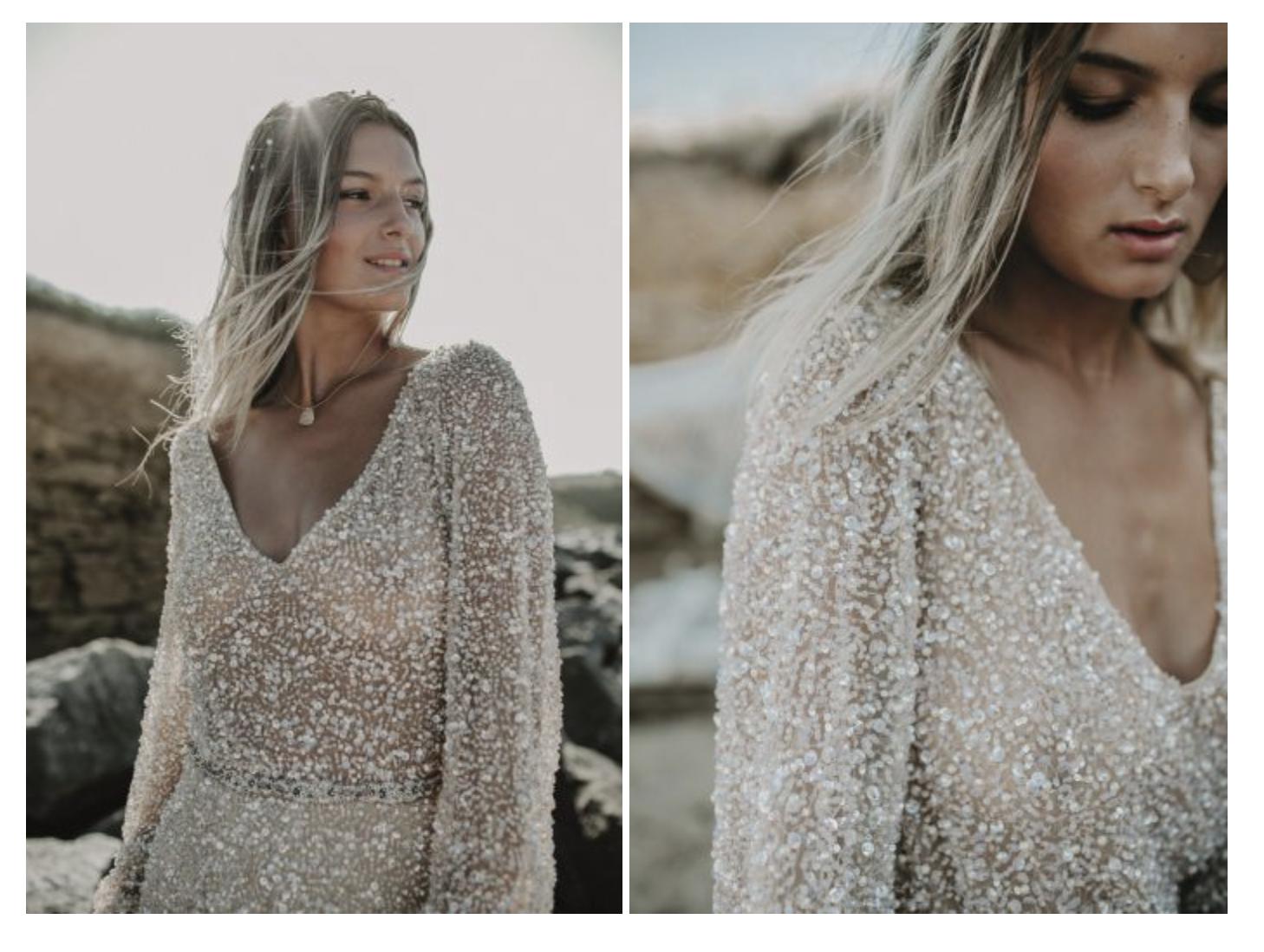 robe de mariée haute couture robe de mariée sur mesure robe perle robe paillettes robe transparente