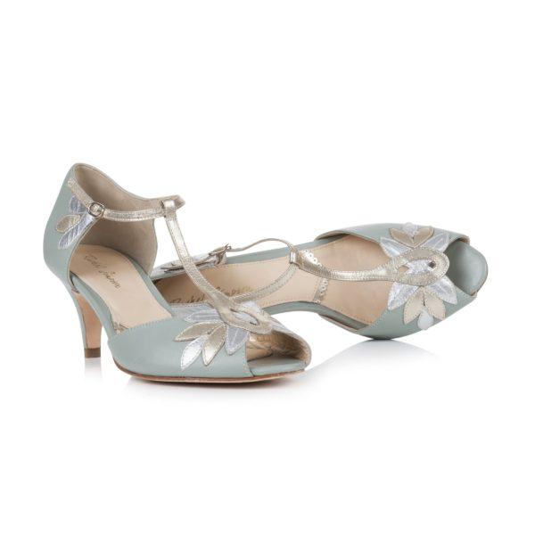 chaussures vintage gatsby verte
