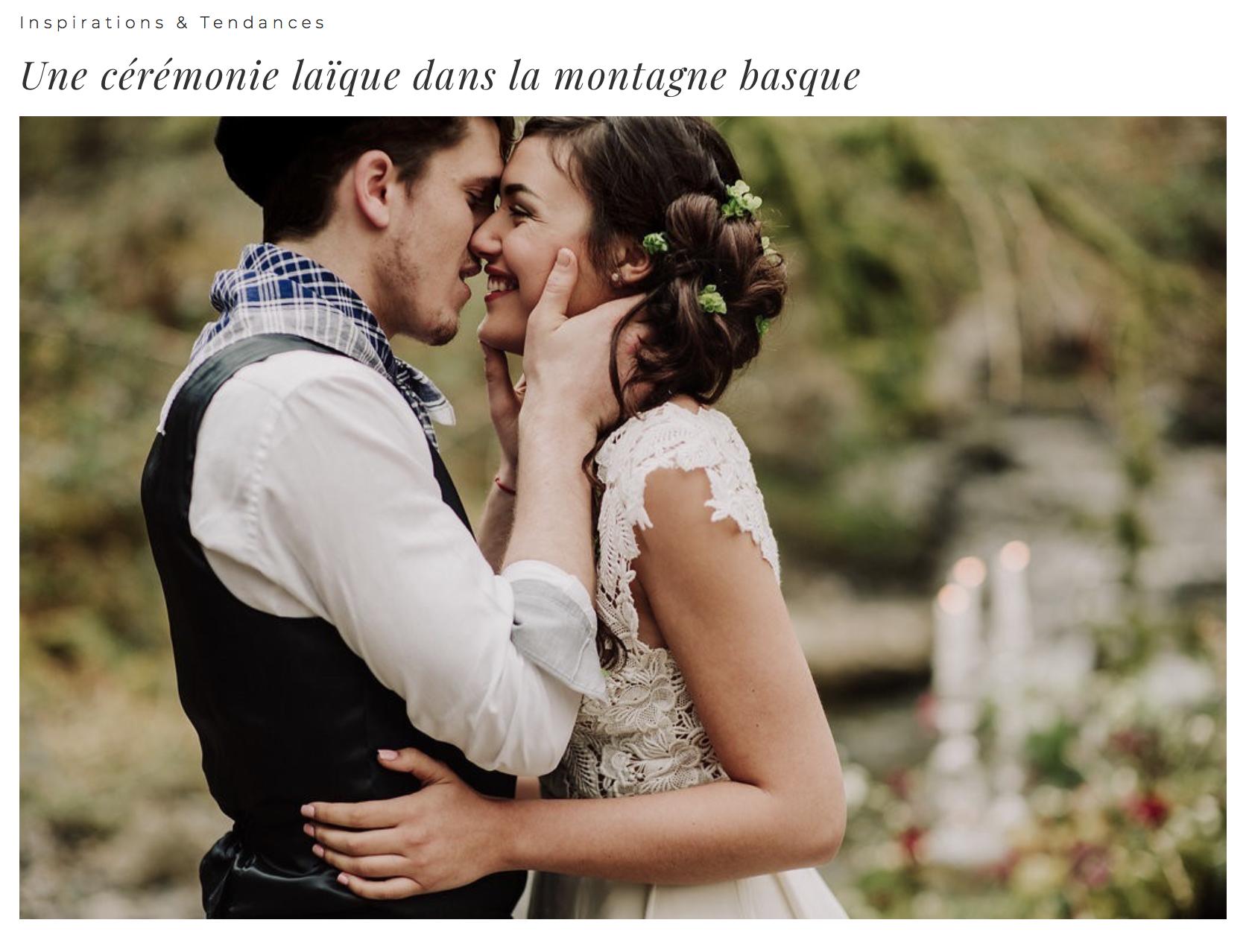 Mariage basque robe de mariée dentelle sur mesure