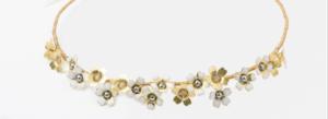 Les Majestes couronne de fleur biarritz accessoire de mariee showroom bordeaux Elise Martimort