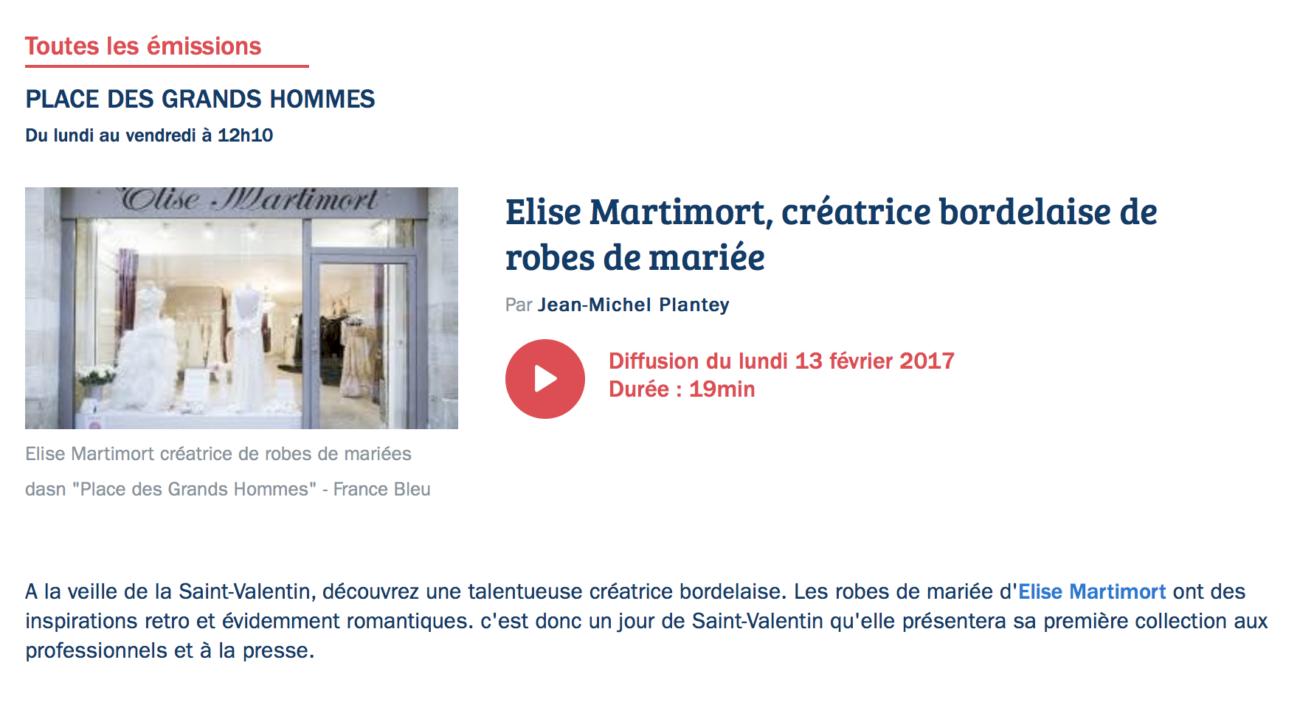 France bleu gironde elise Martimort Podcast