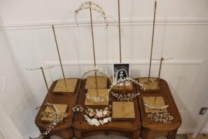 lizeron trunk show Elise Martimort bijoux de tete mariee