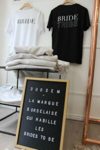 duodem tee shirt bride to be made in bordeaux bride
