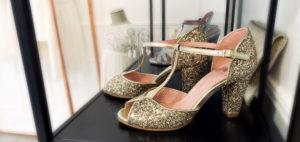 chaussure de mariée Coralie Masson elise Martimort collaboration chaussures glitter