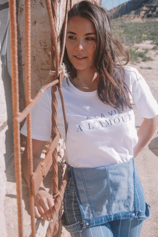 t-shirt a la vie a l amour future mariee evjf duodem elise Martimort robe de mariee sur mesure