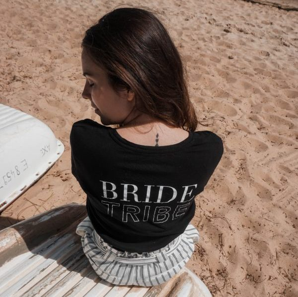 t-shirt bride tribe future marie evjf duodem elise Martimort robe de mariee sur mesure