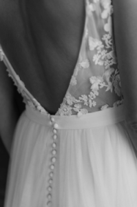 robe de mariee Ophélie elise Martimort creatrice de robe de mariee sur mesure