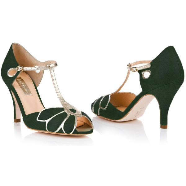 Rachel Simpson France chaussures de mariee doree chaussures mariage chaussure vintage