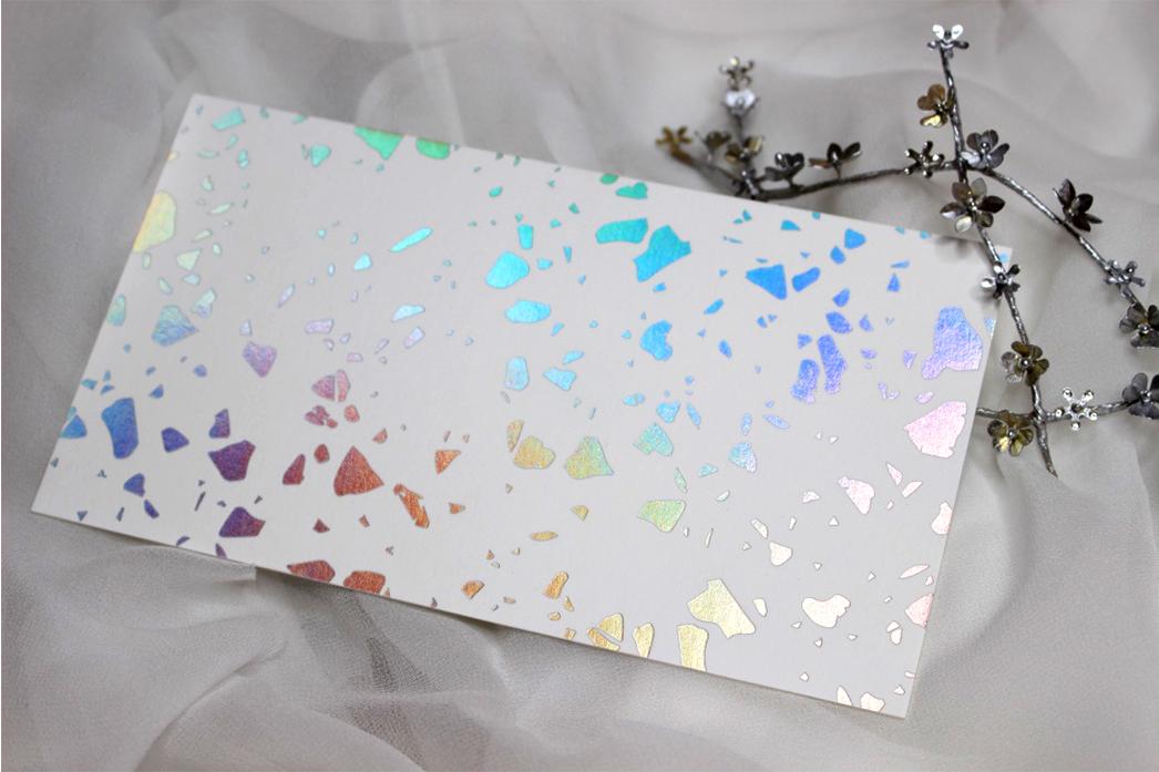 carte de voeux - holographique Laura Pujol atelier dorer