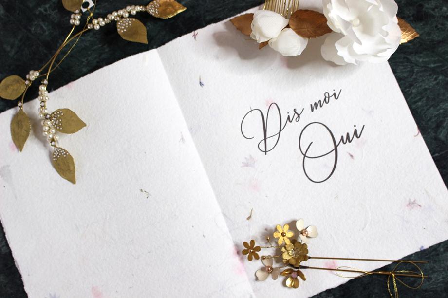 carte demande en mariage papier florale proposal elise Martimort ex anima