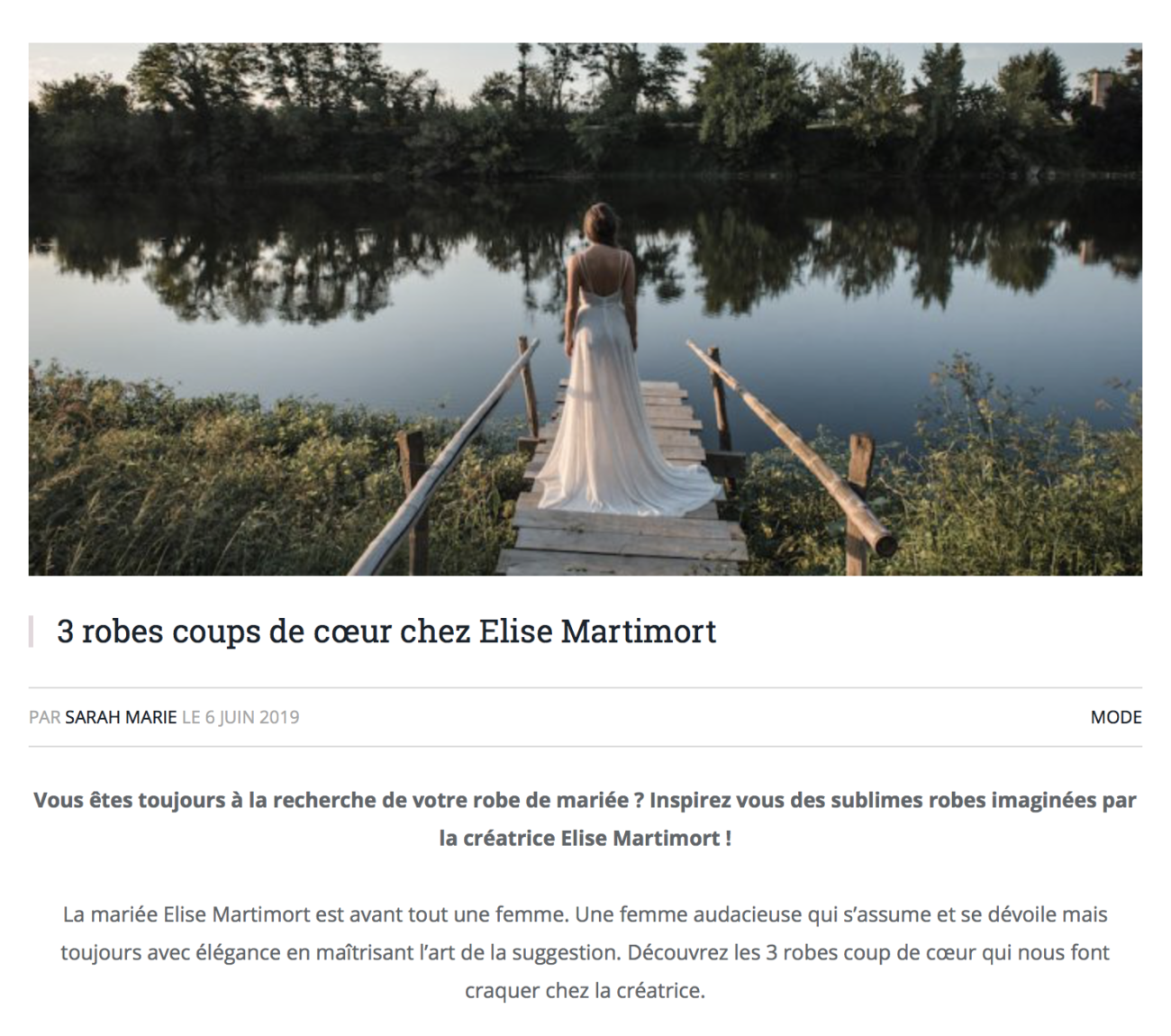 3 robes préférés elise Martimort wedding magazine
