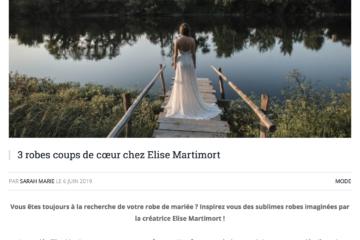 3 robes préférés elise Martimort wedding magazine