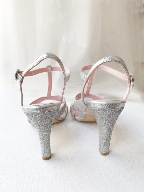 chaussure mariee demoiselle d honneur glitter chaussure argentée paillette créatrice de chaussure Coralie Masson élise Martimort collaboration