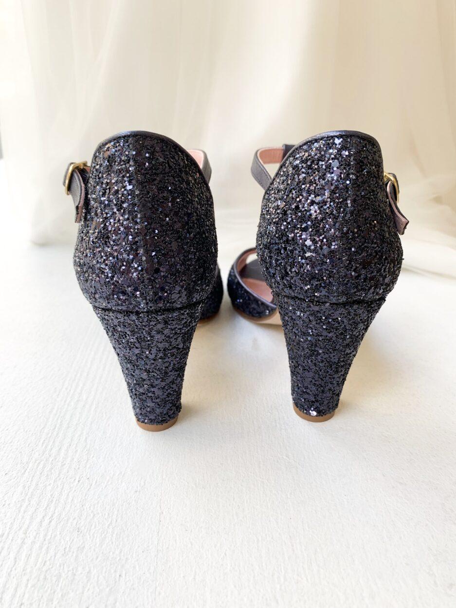 Chaussure collaboration Elise Martimort x Coralie Masson modèle satanas blue
