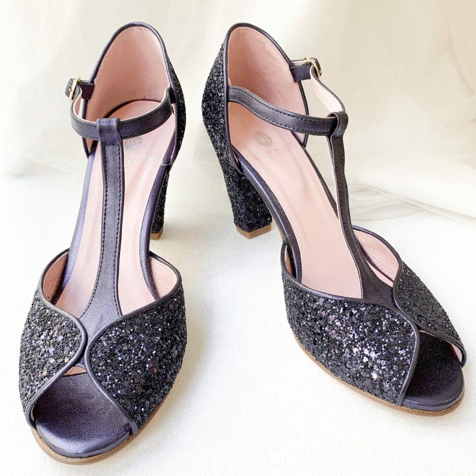 Chaussures Satanas Bleu Coralie Masson x Elise Martimort chaussure mariee demoiselles d honneur