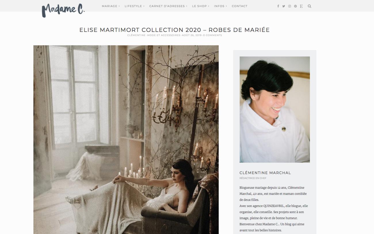 le blog de Madame C met en avant notre shooting capsule couture 2020