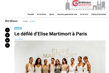 Le défilé d'Elise Martimort à Paris