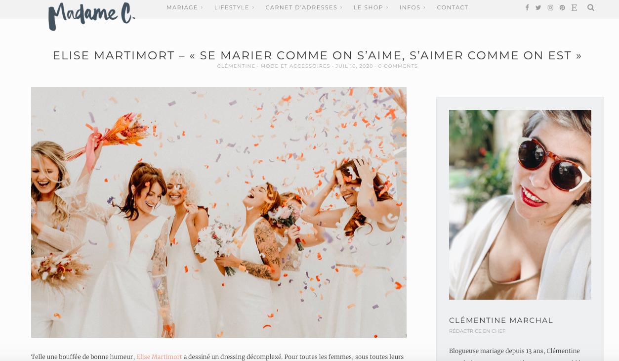 blog mme c collection des robes muse elise Martimort