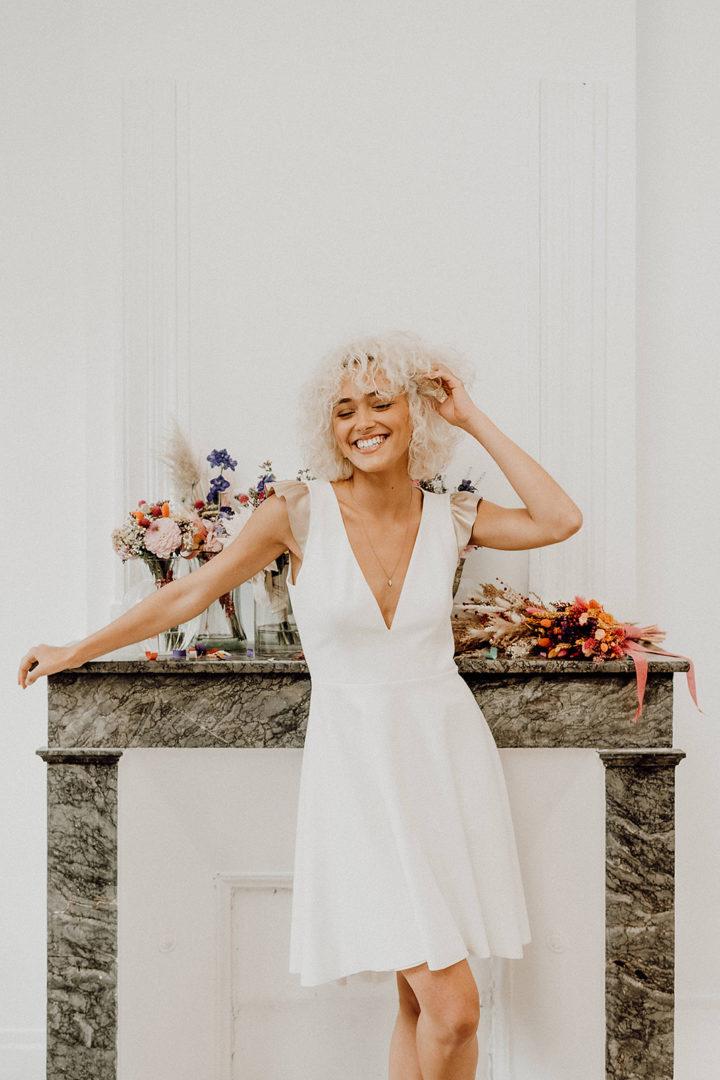 Robe de mariée civile - Elise Martimort créatrice de robe de mariée paris bordeaux