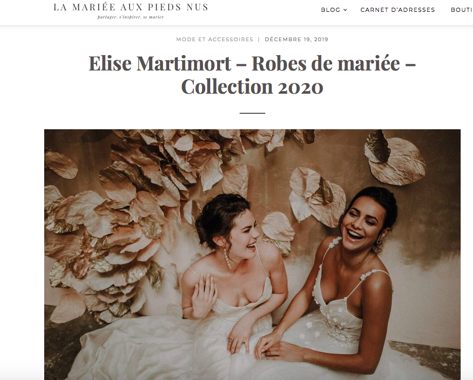 mariee pieds nus elise Martimort collection muse