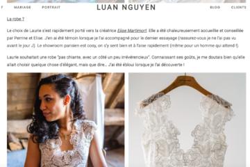 Article robe, blog Luan Nguyen-Elise Martimort