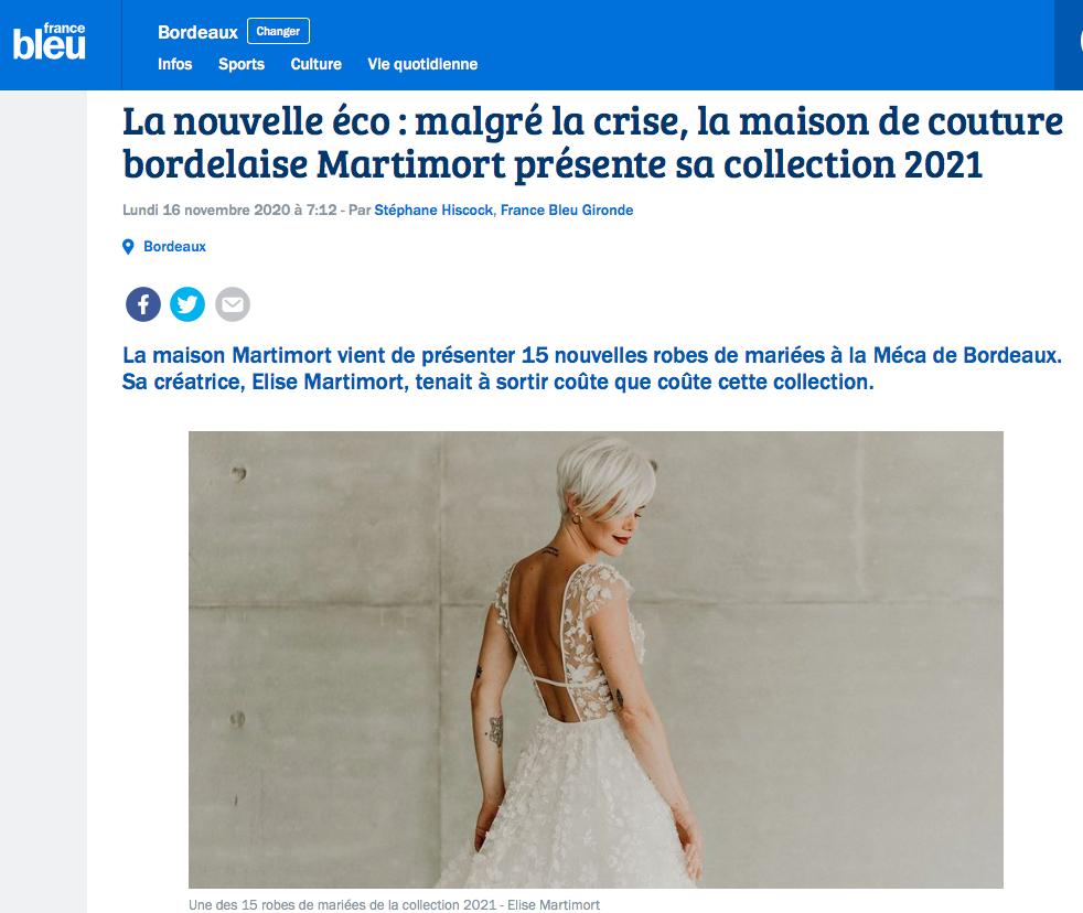 Interview Elise Martimort France Bleu