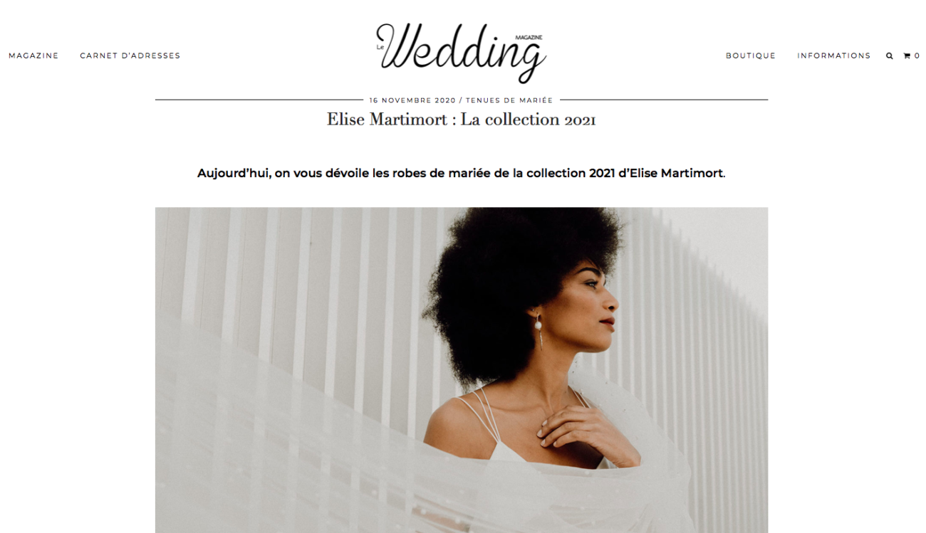 le wedding magazine article shooting 2021 falling in love Elise martimort créatrice robes de mariees sur mesure