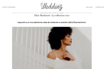 le wedding magazine article shooting 2021 falling in love Elise martimort créatrice robes de mariees sur mesure