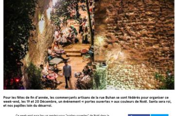La rue Buhan organise son week-end de Noël