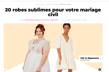 """Merci au magazine """"Cosmopolitain"""" d'avoir mis en avant une robe de notre collection civile !"""