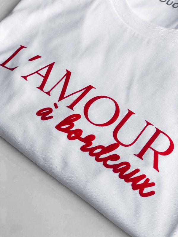 Prêt a porter T-shirt L'amour a Bordeaux Duodem E-shop Elise Martimort