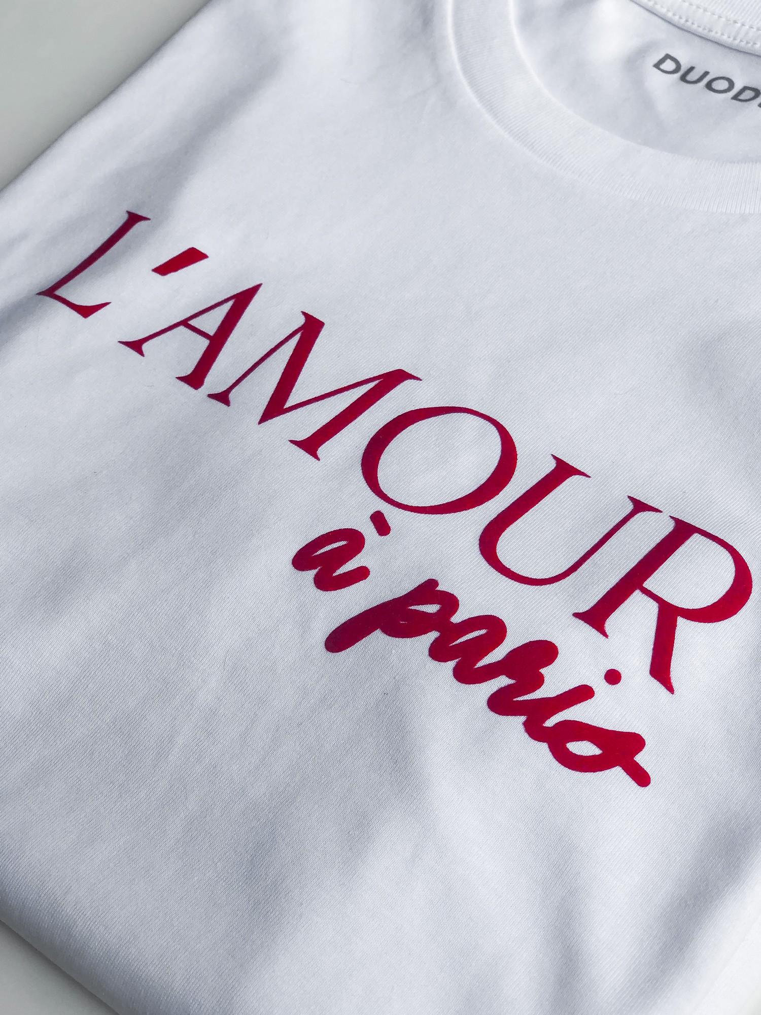 Prêt a porter T-shirt L'amour à Paris Duodem E-shop Elise Martimort