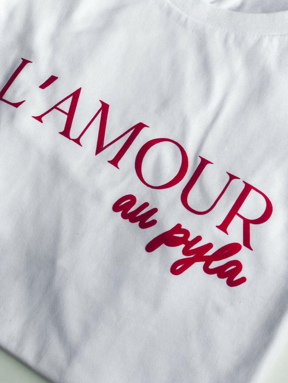 Prêt a porter T-shirt L'amour au Pyla Duodem E-shop Elise Martimort